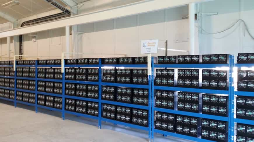 Bitcoin Mining Hardware Farm